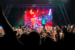 Electronic Dance Music Festival. Closeup picture Royalty Free Stock Photo