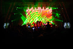 Electronic Dance Music Festival. Closeup picture stock images