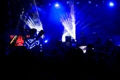 Electronic Dance Music Festival. Closeup picture stock photo