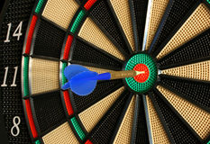 Electronic Dart Board. Another angle of a bullseye Stock Photo