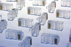 Electronic data connectors Stock Photos