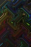 Electronic Design Black Light Fluorescent Multicolor Stock Photography