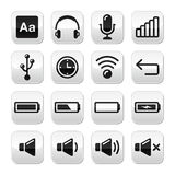 Electronic device / Computer software buttons set -  Royalty Free Stock Photos