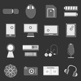 Electronic device icon on dark background Royalty Free Stock Image