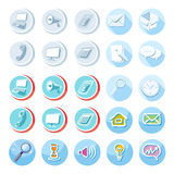 Electronic device icons in cartoon style Stock Images