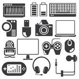 Electronic device icons Stock Image