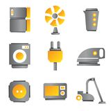 Electronic device icons Royalty Free Stock Photo