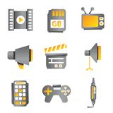 Electronic device icons Royalty Free Stock Photography