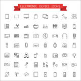 Electronic device icons Royalty Free Stock Images
