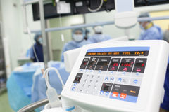 Electronic device in the operating room. Stock Photo