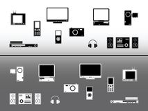 Electronic devices. Technology and communication design elements Stock Photo