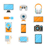 Electronic devices flat icons Stock Photo