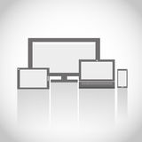 Electronic Devices. Group Abstract Background Royalty Free Stock Photos