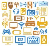 Electronic devices icon set Royalty Free Stock Photography