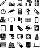 Electronic devices icons royalty free illustration