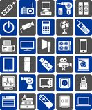 Electronic devices icons Royalty Free Stock Images