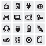 Electronic devices icons Royalty Free Stock Image