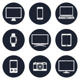 Electronic devices icons. Vector eps10 Stock Photo