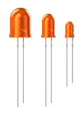 Set of orange LEDs Stock Image