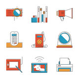Electronic devices line icons set Royalty Free Stock Photography