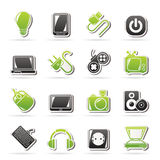 Electronic Devices objects icons Royalty Free Stock Photo
