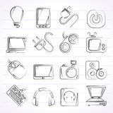 Electronic Devices objects icons Royalty Free Stock Photography
