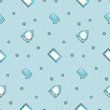 Electronic devices portable seamless gradient pattern. Royalty Free Stock Images