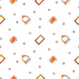 Electronic devices portable seamless gradient pattern. Stock Photo