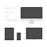 Electronic devices set in flat style Stock Image