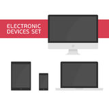 Electronic devices set Royalty Free Stock Image