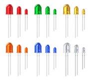 Set of color LEDs stock illustration