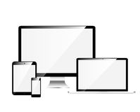 Electronic Devices with White Screens Stock Image