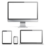 Electronic Devices with White Screens Stock Photography