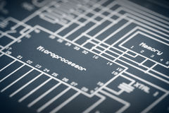 Electronic Diagram Stock Image