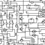 Electronic diagram - seamless vector texture Stock Photos