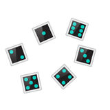 Electronic dice Royalty Free Stock Image