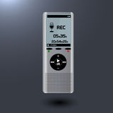 Electronic dictaphone for digital recoder Royalty Free Stock Image