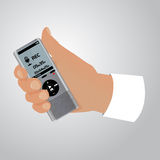 Electronic dictaphone for digital recoder Stock Photo