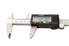 Electronic digital caliper. On white background. The precision tool Stock Photos