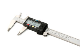 Electronic digital caliper Royalty Free Stock Photos
