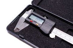 Electronic digital caliper. To check stock photo