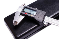 Electronic digital caliper stock photo