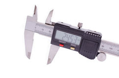Electronic digital caliper royalty free stock photography