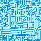 Electronic digital circuit board - seamless vector Stock Images