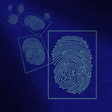 Electronic digital fingerprint processing Royalty Free Stock Photos