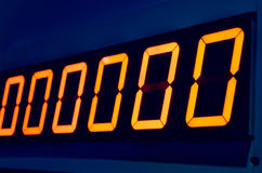 Electronic digital numbers show zero Royalty Free Stock Photography