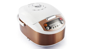 Electronic digital rice cooker Royalty Free Stock Image