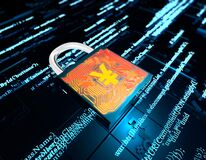 Free Electronic Digital Technology Lock And Financial Data Network Security, RMB, Information Communication Protection Stock Photography - 182394302