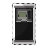 electronic dispenser cash isolated icon Stock Image