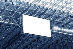 Electronic display at stadium. Electronic billboard display at stadium. Isolated for your text or image Stock Photos